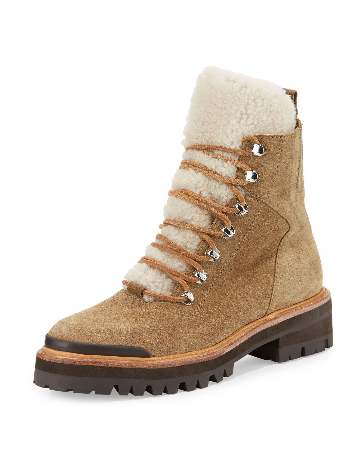 Sigerson Morrison Shearling-Lined Ankle Boots cheap sale cost f0k7b