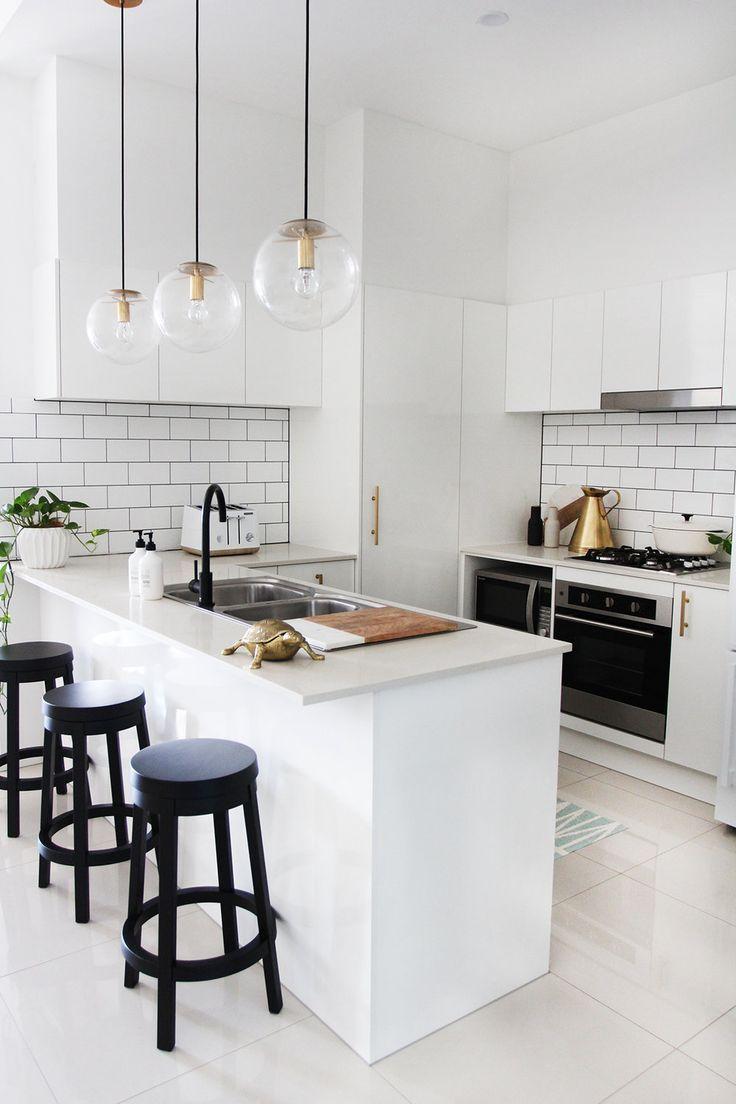 My Mini Kitchen Makeover Adore Home Magazine White Kitchen Design Kitchen Design Small Modern Kitchen
