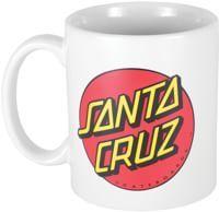 Santa Cruz Classic Dot Mug - white