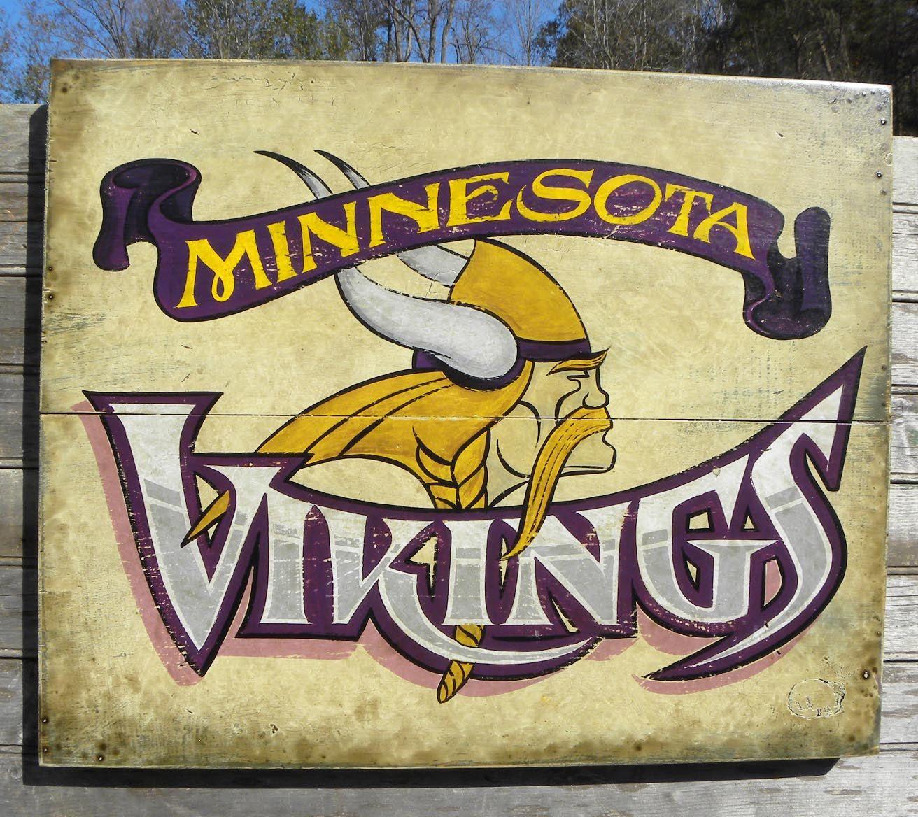 Minnesota Vikings Print & Mat, original art, sports decor, Vikings ...