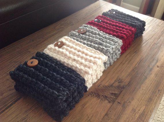 Artículos similares a De mujeres Crochet arranque puños, Toppers de ...