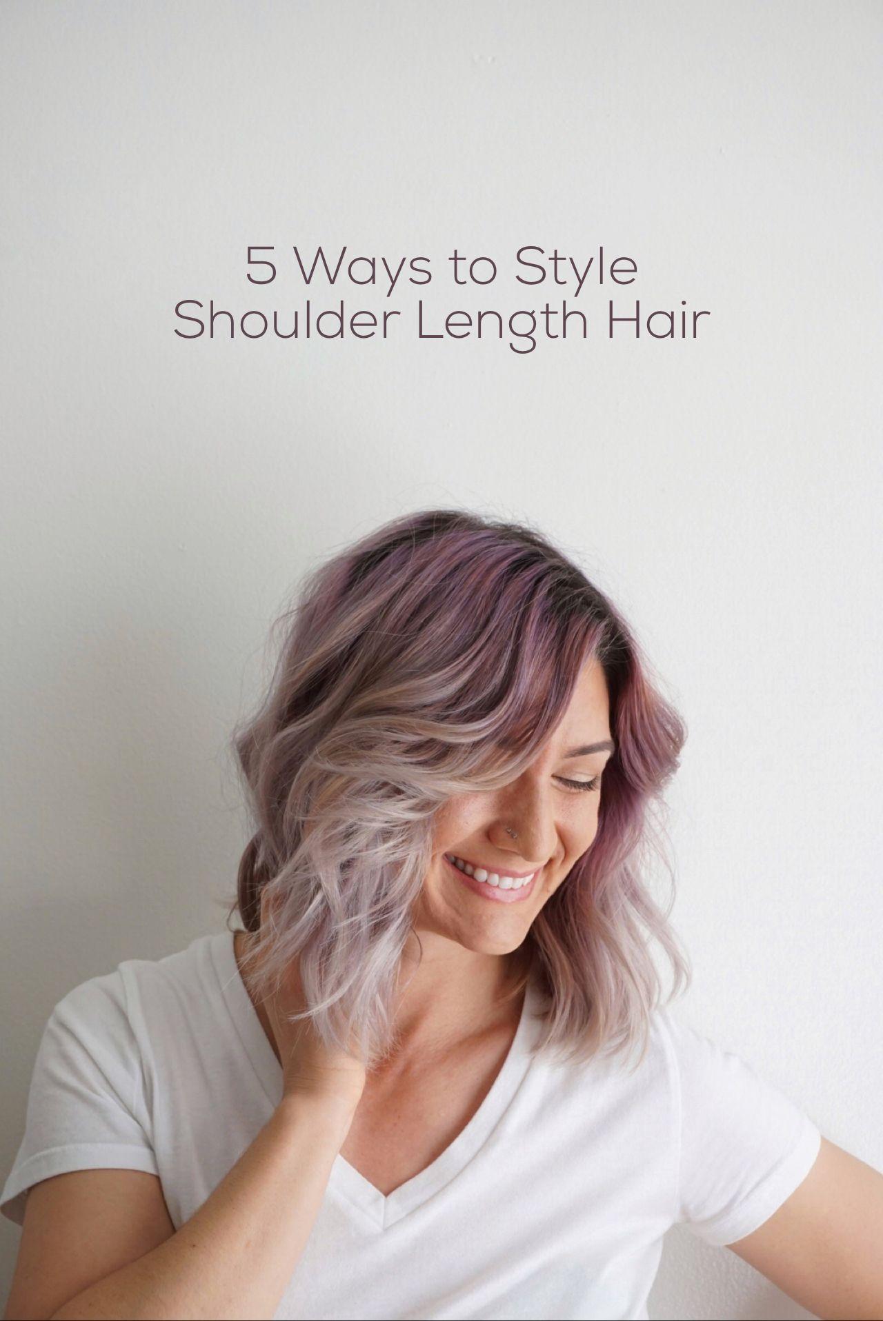 Shoulder Length Hair Hairstyles Hair Dye Pinterest Shoulder