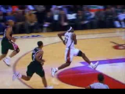 Lebron James Dunks from free throw line (Live and Multiple ...