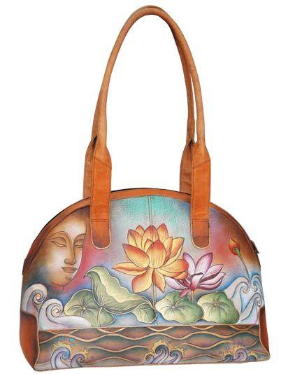 95daf2367513 Anushchka bowling bag on sale... beautiful hand painted leather ...