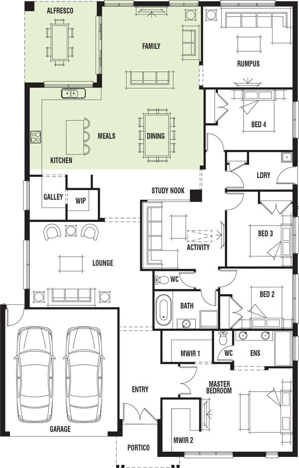 Porter Davis Homes House Design Vancouver Single Storey House Plans Home Design Floor Plans Floor Plans