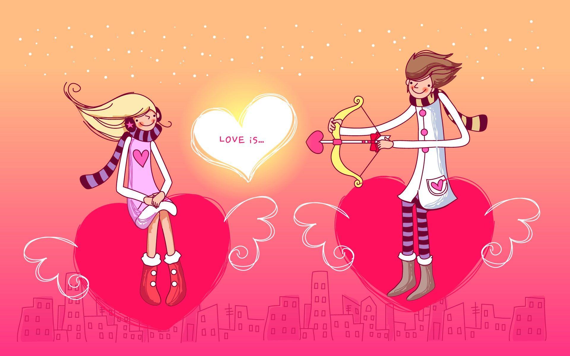 valentines background illustration vector couple