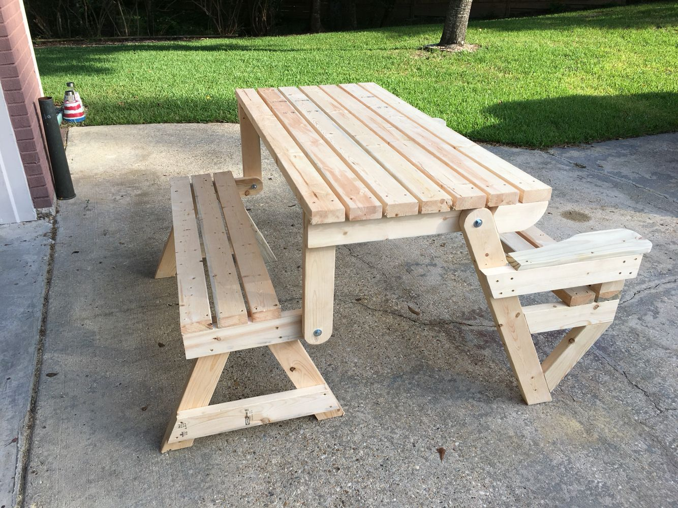 Fine Picnic Bench Table Made From Dave Gattons Design Pabps2019 Chair Design Images Pabps2019Com