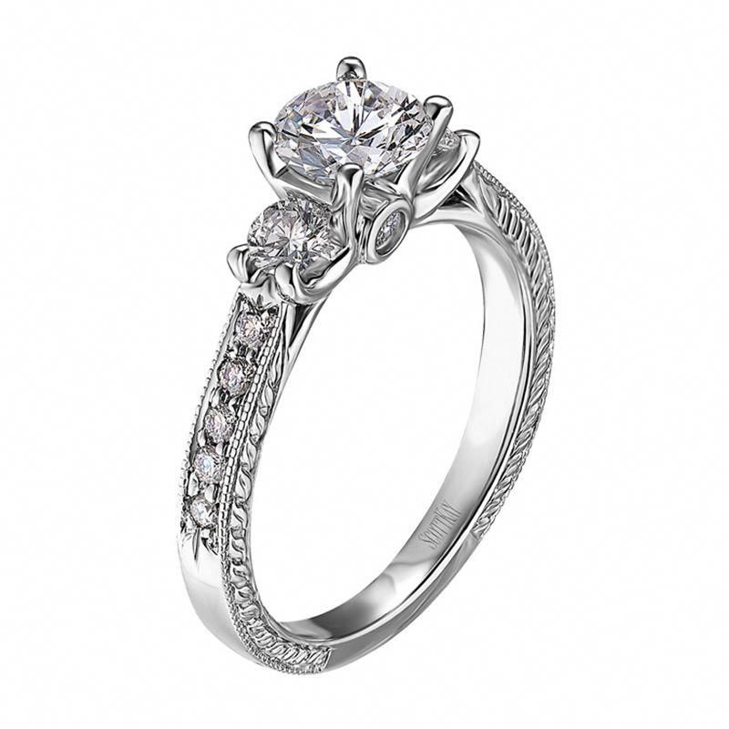 14kt White Gold (H/SI) Ladies Engagement Ring From the The ...