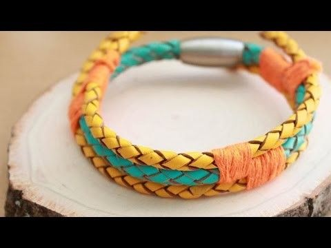 Create a Cool Mixed Leather Bracelet - DIY Style - Guidecentral