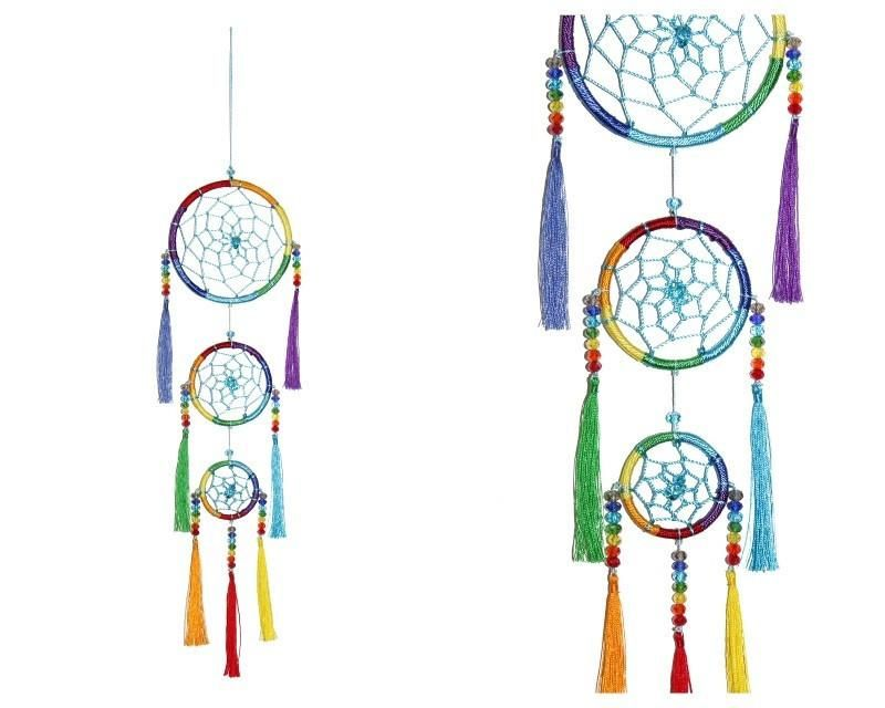 Chakra Coloured Dream Catcher With Crystals With Images Dream Catcher Color Dream Chakra