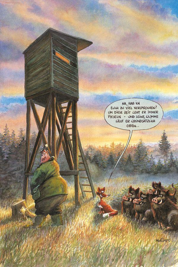 Jagd Marunde Cartoons Illustrationen Von Wolf Rudiger Marunde