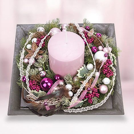 8 // Deko-Kranz Elegance – Romantik und Eleganz für die kalte Jahreszeit! #Weihnachten #Adventskalender #Valentins #Blumen #Geschenke #Deko