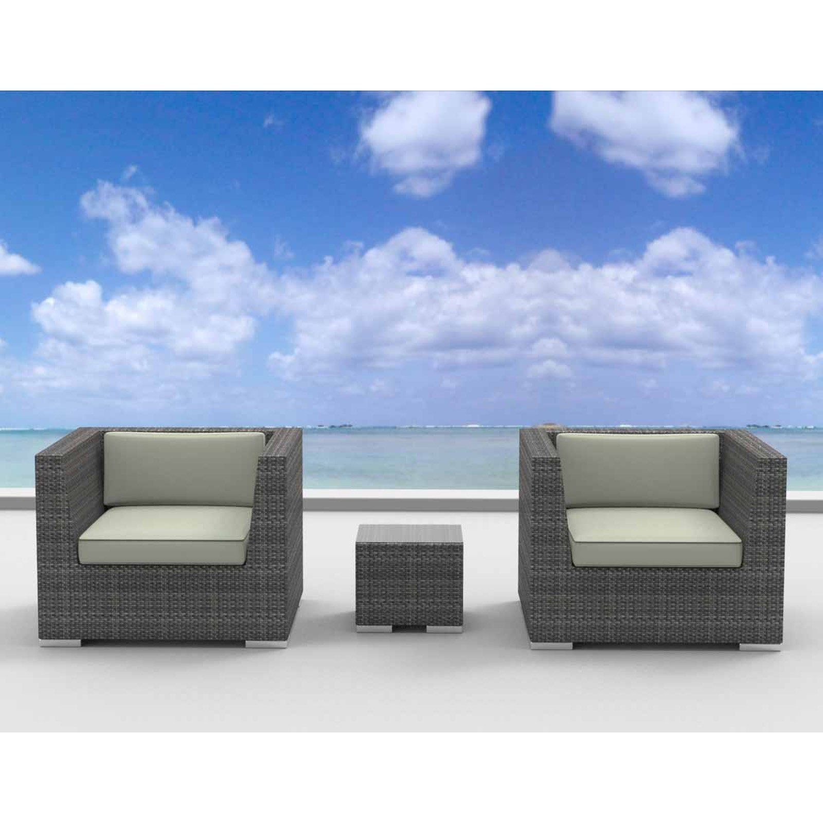 Urban Furnishing St Croix 3 Piece Outdoor Wicker Patio Furniture
