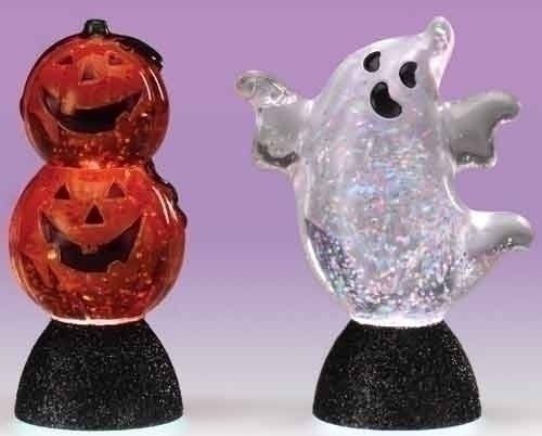 12 Halloween Figurines by Gordon Companies, Inc. $129.00. Please refer to SKU# ATR25790248 when you inquire.. Shipping Weight: 3.00 lbs. Brand Name: Gordon Companies, Inc Mfg#: 30759463. This product may be prohibited inbound shipment to your destination.. Picture may wrongfully represent. Please read title and description thoroughly.. 12 Halloween figurines/glitter/LED/blue green red purple yellow white/batteries are included/power controls at bottom/3.5''H/made of acrylic...