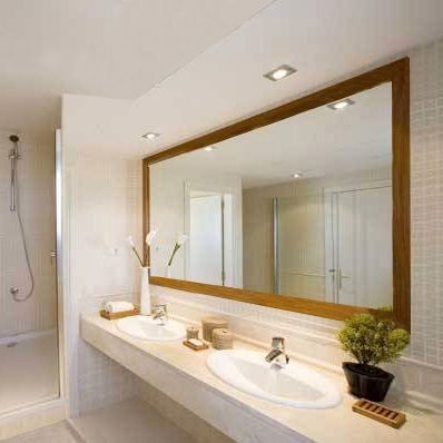 espejo en marco madera para ba o 1 00 x 0 80 m 6cm marco