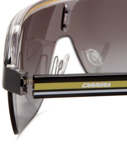 Carrera Topcar 1 Unisex Shield Sunglasses,Black Crystal Yellow Frame Gray  Gradient Lens, 487b36b9ec
