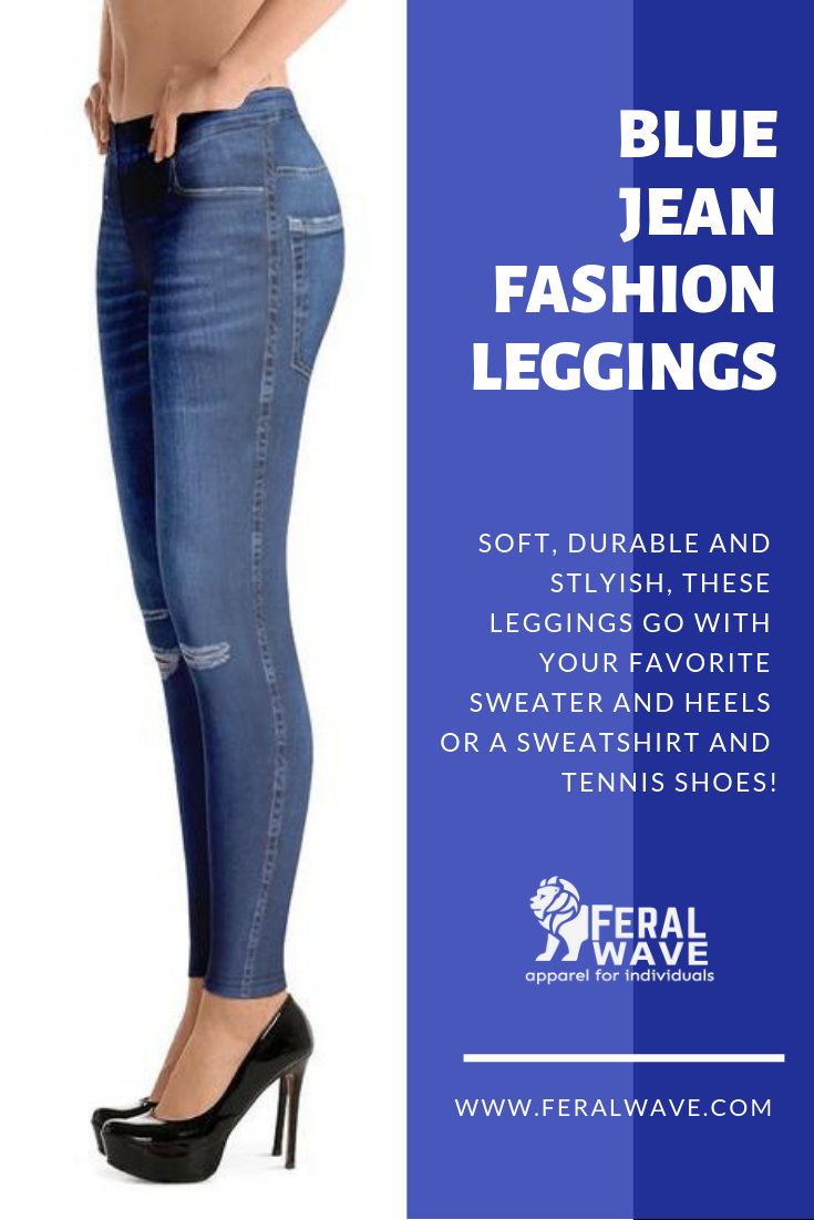 6beb8b89529ad Get that blue jean look, but in stretch leggings! A comfortable option to  actual