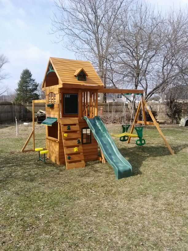 Exceptionnel Big Backyard Ridgeview Deluxe Playset From Toys R Us Installed In Sewell,  NJ.