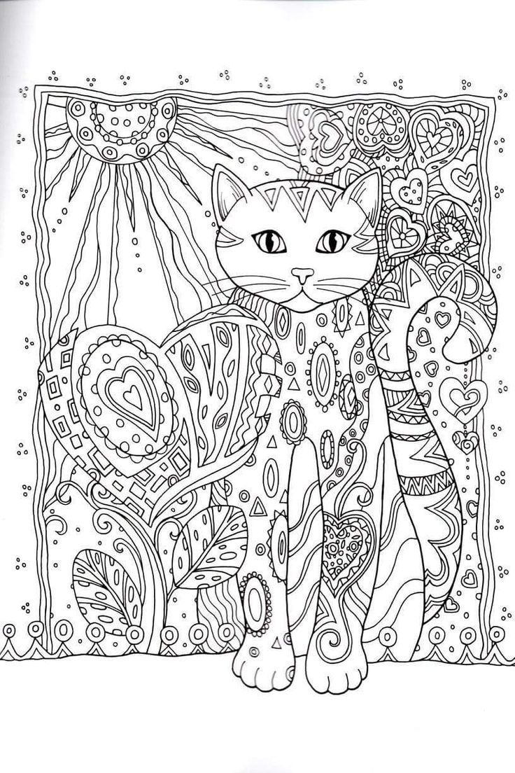 Stress relieving cats coloring - Cat Coloring Book For Adults Google Search