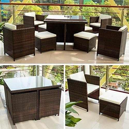 Seater 9 Piece Rattan Garden Furniture