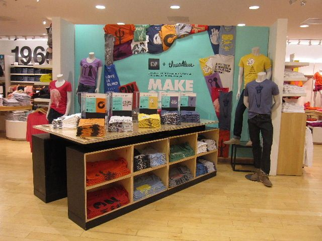 The Gap And Threadless Team Up Decor Display Store Decor