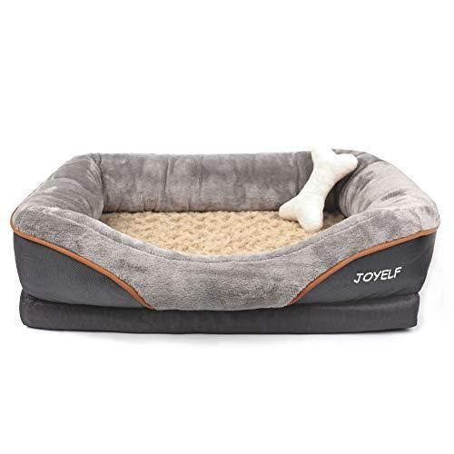 Joyelf Orthopedic Dog Bed Memory Foam Pet Bed With Removable Washable Cover And Squeaker Toy As Gift Medium 3 In 2021 Orthopedic Dog Bed Medium Dog Bed Cool Dog Beds Pet bed with removable cover