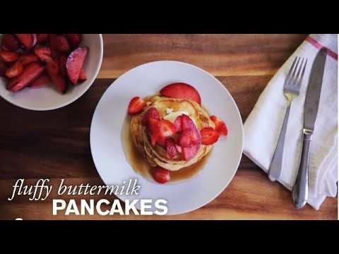 Easy Like a Sunday Morning Pancakes--Fluffy on the inside, golden brown and slightly crisp on the outside, these buttermilk pancakes are yet another reason to love weekends.