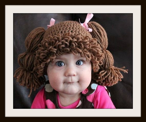Crochet Cabbage Patch hat Girl 1224 Months. by Danielascreations ...
