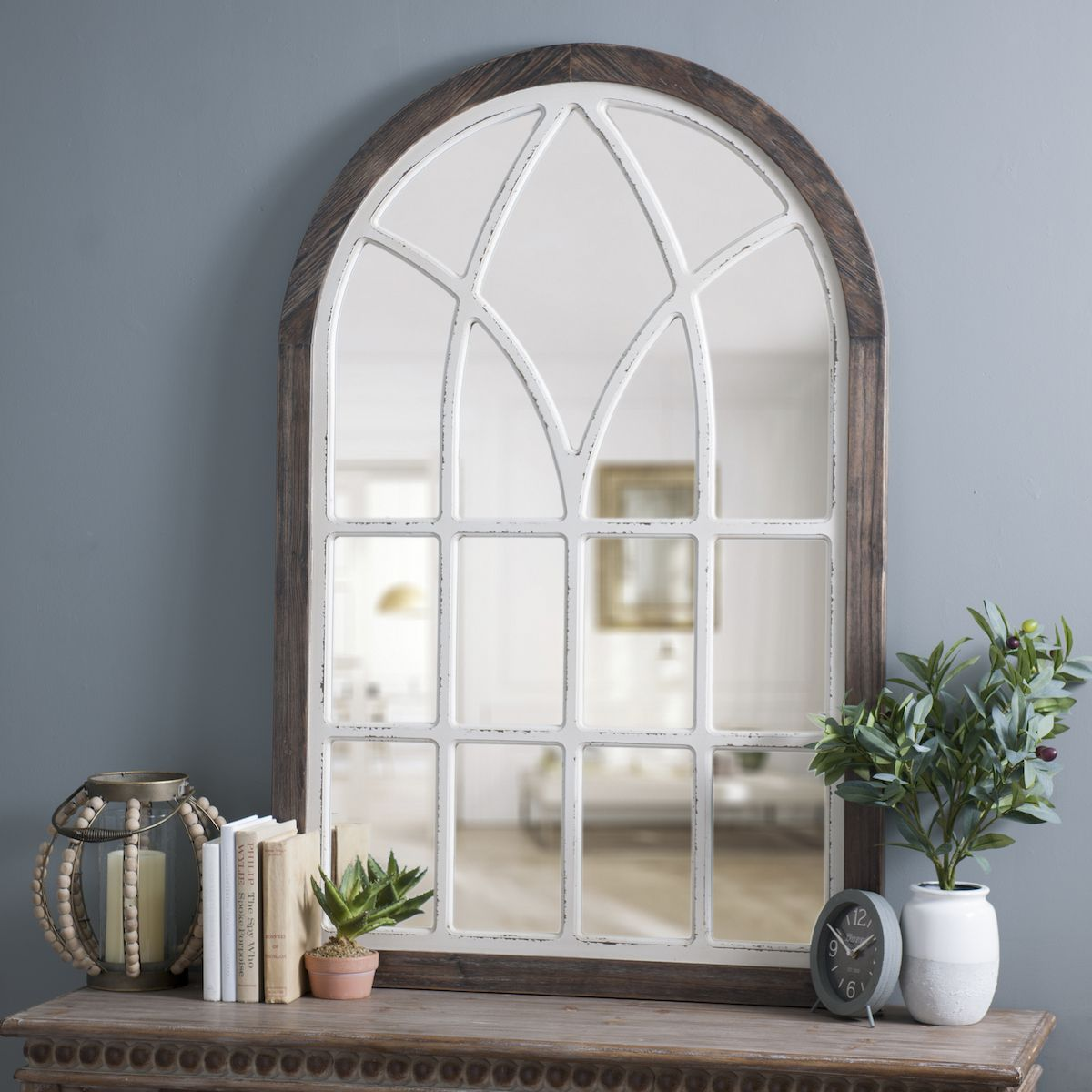 vail two tone arch wall mirror arched wall decor on wall mirrors id=39472