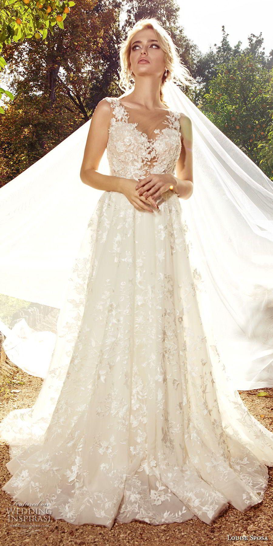 Louise Sposa 2018 Wedding Dresses Wedding Inspirasi Wedding Dresses Wedding Dresses Lace Lace Bridal Gown [ 1800 x 900 Pixel ]