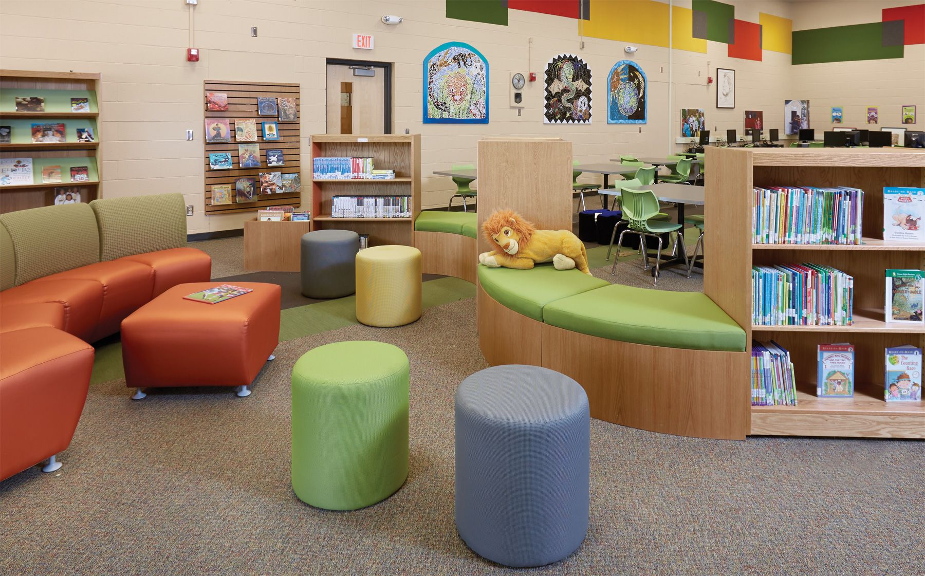 Library Design Ideas shelves with small home library design reading nook and storage home library ideas design Library Decorating Ideas Abraham Lincoln Elementary School