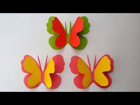 How To Make Butterfly With Color Paper Making Paper Butterflies