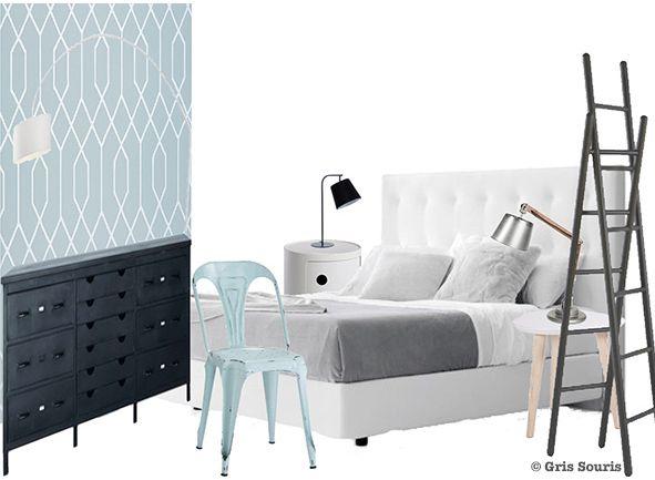 Planche tendance moodboard chambre coucher shopping kartell ligne roset maisons du monde - Maison du monde chambre a coucher ...