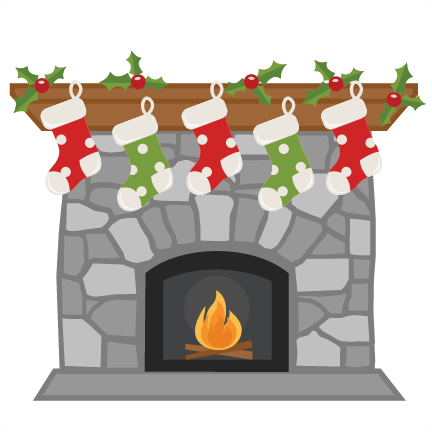 Christmas Fireplace Scene Clipart.Christmas Fireplace Svg My Miss Kate Cuttables Christmas