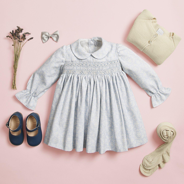 1ec12ad9c44 Traditional Handsmocked baby dress Blue