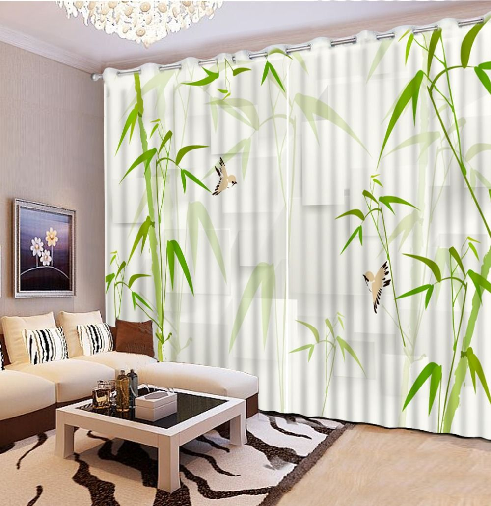New Blackout curtains fabric 3d curtains for bedroom ready made ...