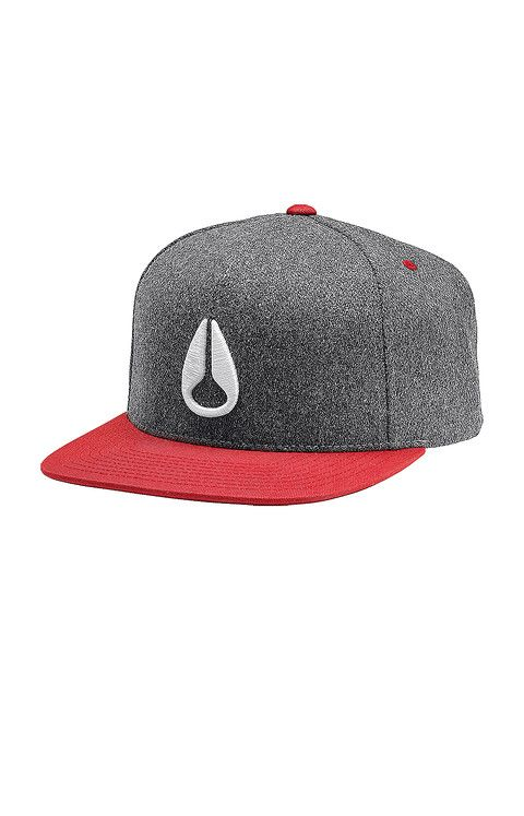 32ebf8aba8d Simon Snap Back Hat - Heather Gray   Red