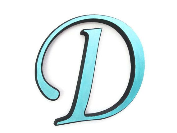 Painted Wooden Letter D decorative wall letters by FischerFineArts ... 750c7bf58