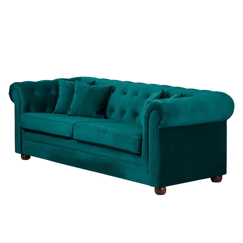 Erstaunlich Sofa Upperclass (3 Sitzer) Samt   Petrol   4 Kissen, Jack And Alice Jetzt  Bestellen Unter: Https://moebel.ladendirekt.de/wohnzimmer/sofas/2 Und 3 Sitzer   ...