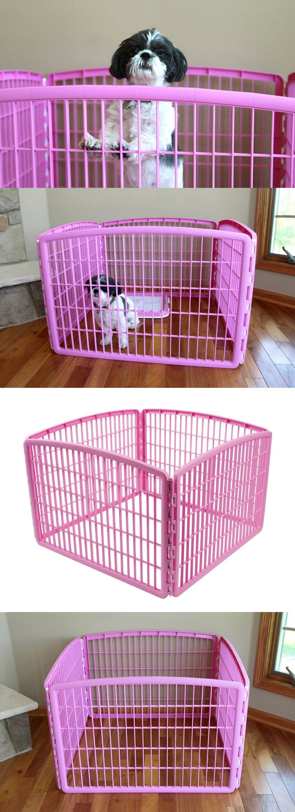 Lovely Fences And Exercise Pens 20748: Small Dog Playpen Puppy Pet Cat Exercise  Fence Portable Panel