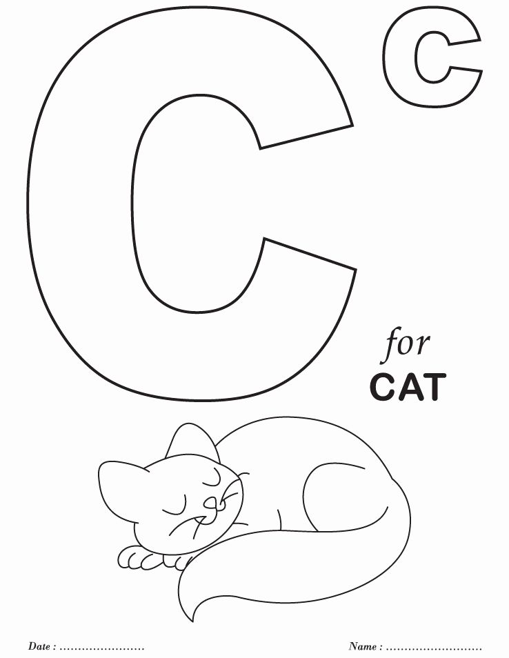 Letter C Coloring Pages In 2020 Kindergarten Coloring Pages Preschool Coloring Pages Alphabet Coloring Pages