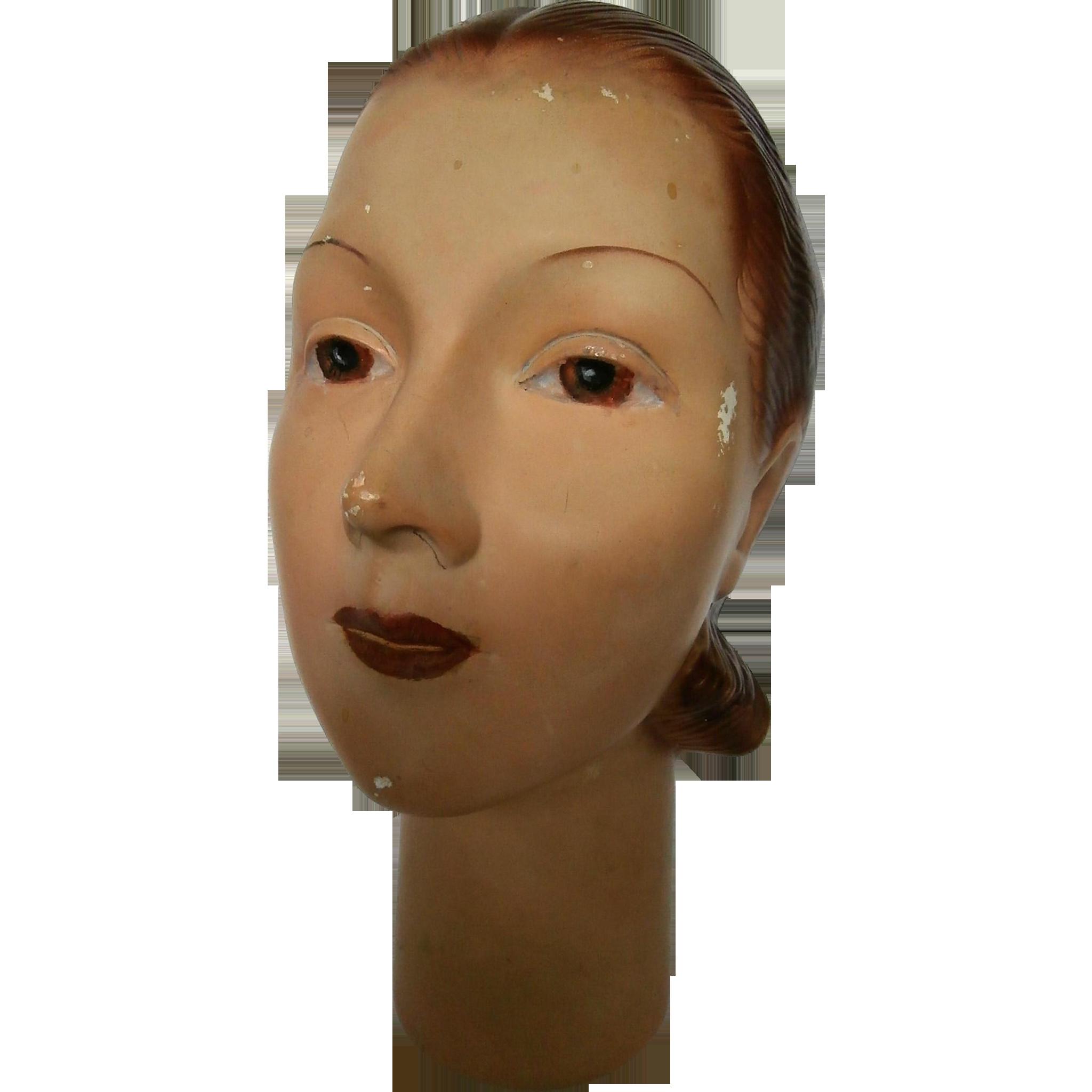 1930 S Era Mannequin Head Ubungskopfe