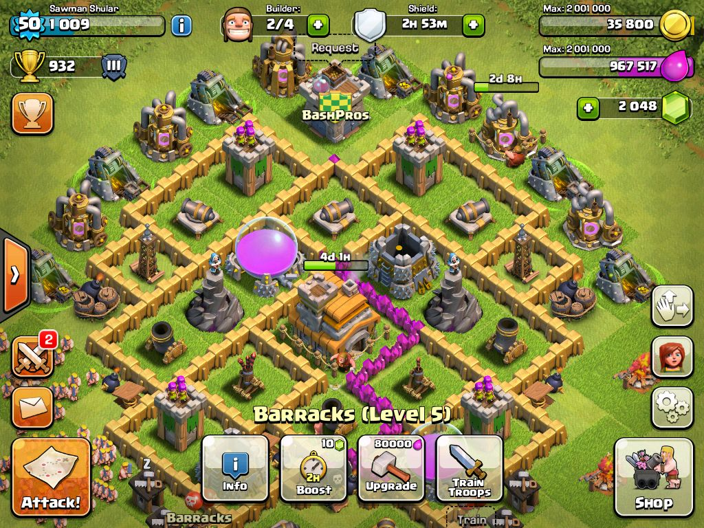 clash of clans town hall level 7 defense strategy