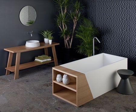 aime a salle de bain bois pinterest salle de bain salle et salle. Black Bedroom Furniture Sets. Home Design Ideas