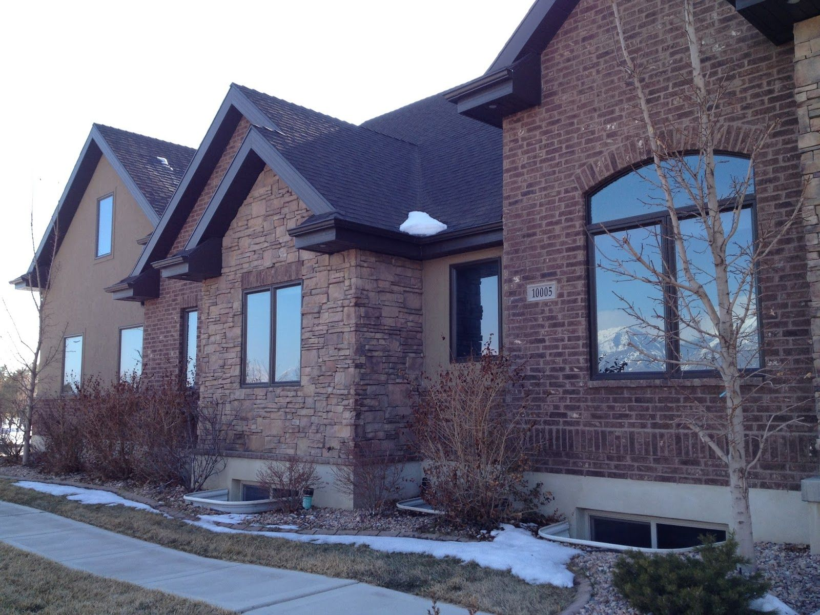 Red Brick And Stone Homes Using Brick Stone On Your