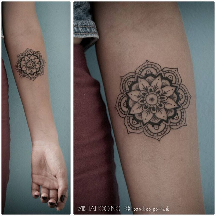 How To Care For A New Color Tattoo Small Mandala Tattoo Forearm Mandala Tattoo Forearm Tattoos