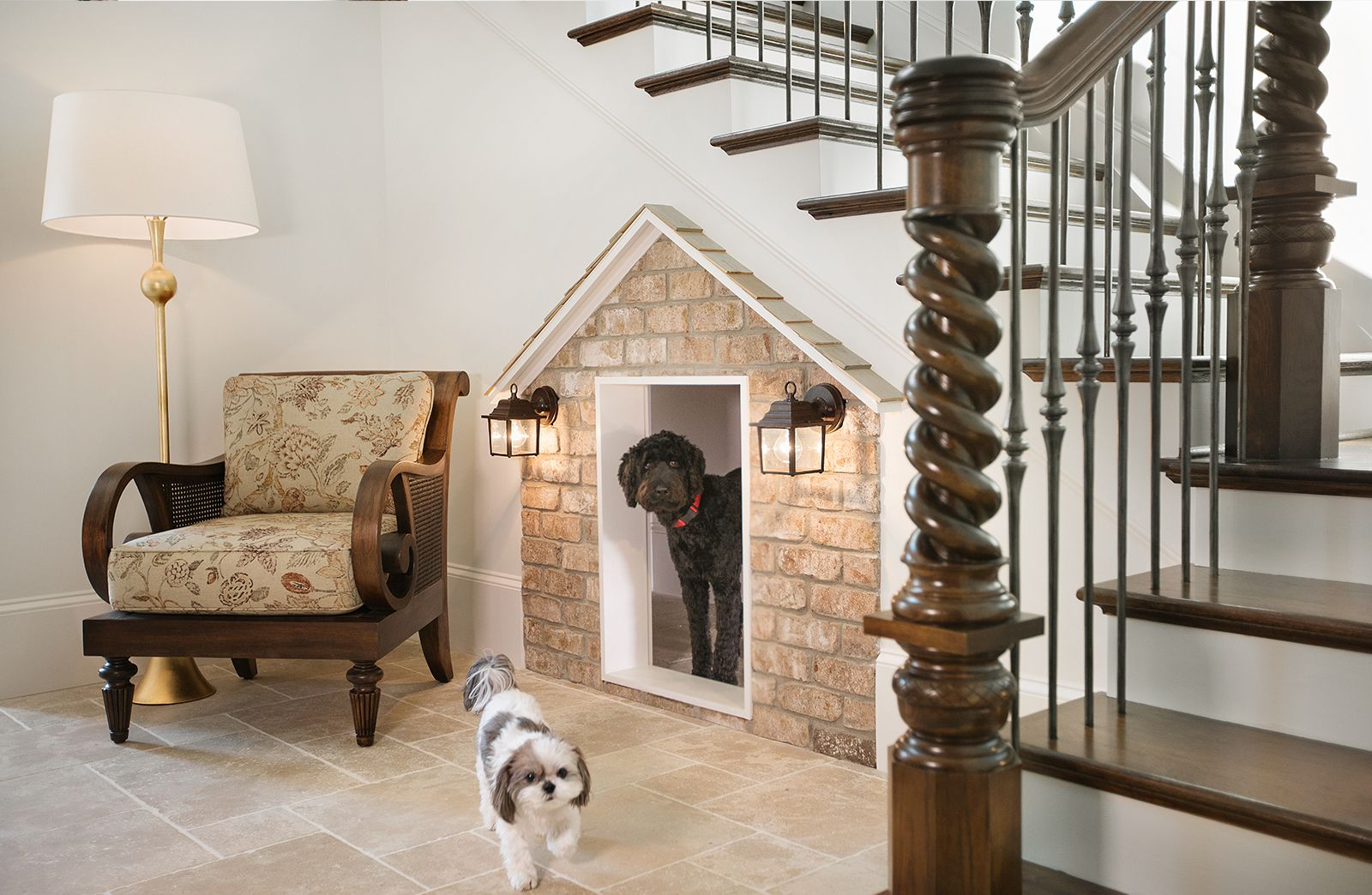 Built In Doghouse Under The Stairs Under Stairs Dog House Dog
