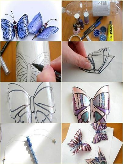 Decorated Plastic Bottles Butterfly Decorations Using Plastic Bottles  Recycle  Repurpose