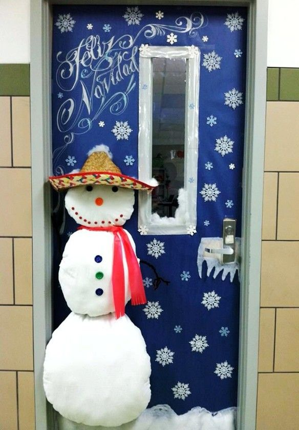 Christmas Classroom Decorations Door Decorating Ideas Snowman Decoration