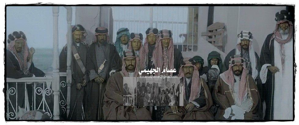 الملك عبد العزيز آل سعود بجانب الشيخ مبارك الصباح الكويت عام 1910 Rare Pictures My Images Black And White